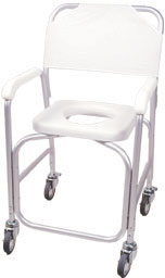 Deluxe Shower Chair w/Commode Opening