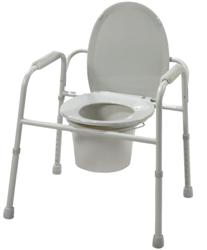 Commode, Steel, All-in-one